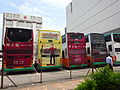 HK Sheung Wan Des Voeux Road West Connaught Road West Sept-2015 DSC Western Fire Services Street bus parking Shell Ads.JPG