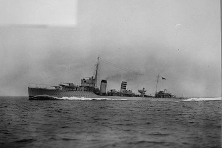 HMS Codrington, which evacuated members of the Dutch Royal family from the Netherlands HMS Codrington.jpg