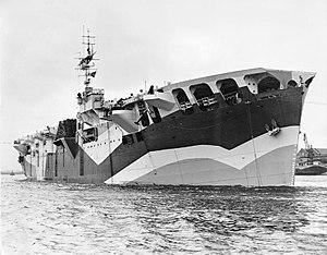 Caspar John - The aircraft-carrier HMS ''Pretoria Castle'' which John commanded towards the end of the Second World War