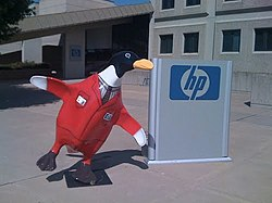 This is HP's Penguin at the Tulsa Airport