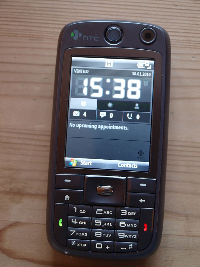 English: HTC S730 mobile phone.