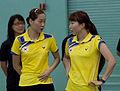 Ha Jung-eun Kim Min-jung 2011 US Open Badminton 1.jpg
