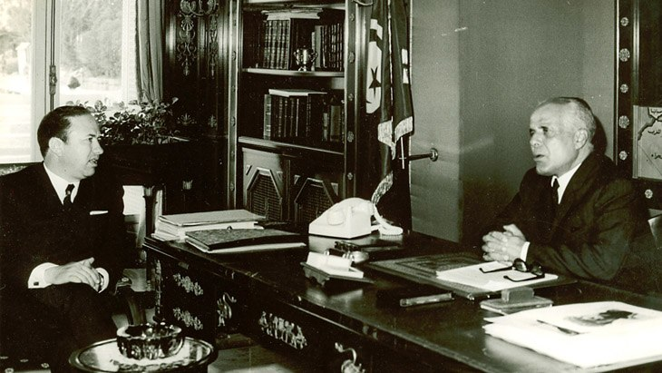 Habib Bourguiba and Beji Caïd Essebsi