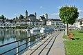 Hafen Rapperswil - Lindenhof-Herenberg - Seefeldquai-Fischmarktplatz - Seedamm 2015-05-27 18-08-53.JPG