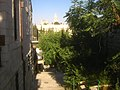 Hagia Maria Sion Abbey (formerly Abbey of the Dormition of the Virgin Mary) viewed from Yemin Moshe הדורמיציון מימין משה - panoramio.jpg