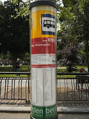 Willem Hubert Nolens - Bus stop Monseigneur Nolensplein in Venlo and Nolenspark behind