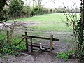 Halton Railway - An informal footpath crosses the track - looking North - geograph.org.uk - 1235774.jpg