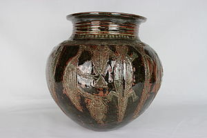 Gbagyi people - Hand-Built pot by Ladi Kwali (YORYM-2004.1.919)