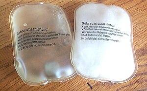 Deutsch: Latentwärmespeicher, Taschenwärmer