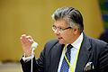 Hans Wallmark (m) talar vid Nordiska radets session i Stockholm 2009.jpg