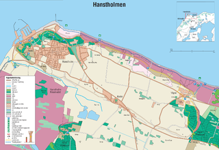 Hanstholm small town at the danish west coast