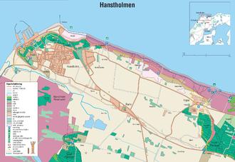 Hanstholm - Image: Hanstholmen map