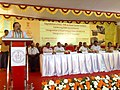 Harsh Vardhan addressing at the inauguration of the Dual Energy Linear Accelerator and upgradation of the Regional Cancer Center to State Cancer Institute, at Thiruvananthapuram, in Kerala. The Chief Minister of Kerala.jpg