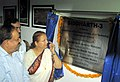 Harsh Vardhan and the Speaker, Lok Sabha, Smt. Sumitra Mahajan unveiled the plaque to inaugurate the indigenously developed Linear Accelerator Sidharth-3, in Indore on August 26, 2014.jpg