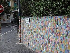 Omar Hassan (artist) - The wall Borgio Verezzi in Wonderland realized in 2011 by Omar Hassan in Borgio Verezzi, Italy