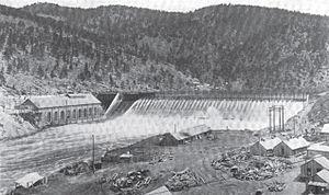 Hauser Dam - Image: Hauser Dam December 1908 reconstructed