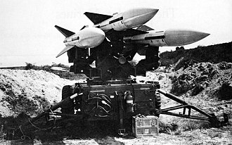 3rd Low Altitude Air Defense Battalion - A Hawk missile launcher at Da Nang Airfled in 1965