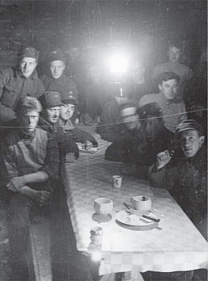 Anne Margrethe Strømsheim - Some of the Norwegian defenders at Hegra gathered in one of the fortress' subterranean halls during the siege.