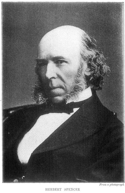 "Herbert Spencer, der Urheber des Begriffs ""Survival of the Fittest"""