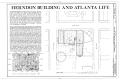 Herndon and Atlantic Life Building, 229-243 Auburn Avenue, Atlanta, Fulton County, GA HABS GA,61-ATLA,1A- (sheet 1 of 9).png