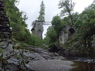 Highbridge, Scotland - The ruins of the bridge