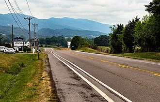 Grainger County, Tennessee - US-11W near Blaine, with Joppa Mountain rising in the distance