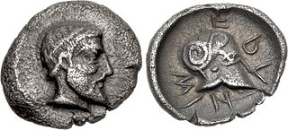 silver coin used in ancient Greek colonies, especially Sicily
