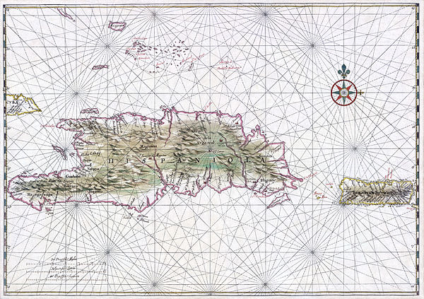 Early map of Hispaniola and Puerto Rico, circa 1639. Hispaniola Vinckeboons4.jpg