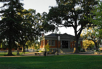 Paso Robles, California - The historic Carnegie Library now houses the Paso Robles Historical Society museum.