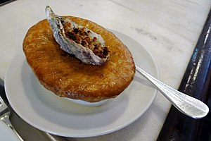 Steak and oyster pie - Image: Hix Oyster and Chop House, Smithfield, London (4336737493)
