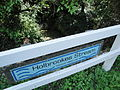 Holbrookes Stream sign at Bouldnor Tennyson Road.JPG