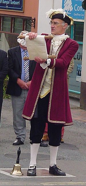 Holsworthy, Devon - Proclamation of the fair charter by the Town crier