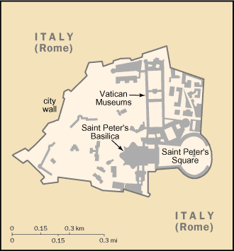 Holy See (Vatican City)-CIA WFB Map