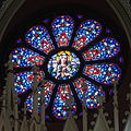 Holy Trinity Catholic Church (Somerset, Ohio) - stained glass, Immaculate Heart rose window.jpg