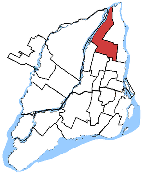 Honoré-Mercier (electoral district) - Honoré-Mercier in relation to other electoral districts in Montreal (2003 boundaries)