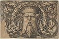Horizontal Panel with a Bearded Amascaron in a Medallion at Center Surrounded by Tendrils MET DP837026.jpg