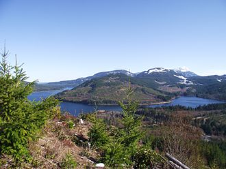Horne Lake - Horne Lake viewed from Mt. Mark, looking southeast