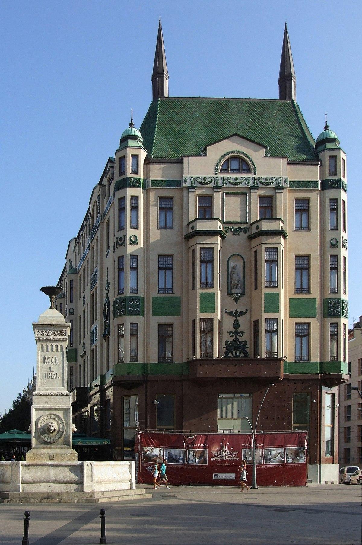 Hotel moskva beograd wikipedija for Hotel belgrado