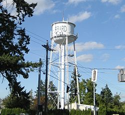 The watertower in Hubbard.