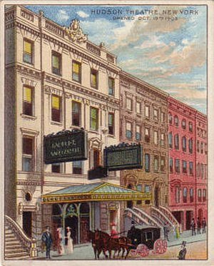 Hudson Theatre - Hudson Theatre on a 1910s trading card