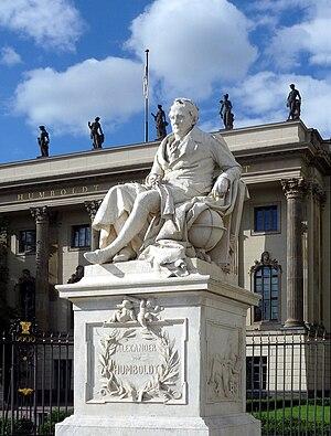 Kosmos (Humboldt) - Humboldt statue at the Humboldt University of Berlin.