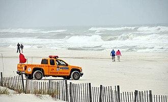 Hurricane Ida - Conditions at Pensacola Beach, Florida on November 9