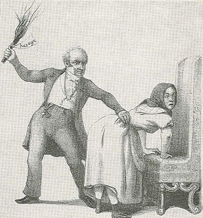 19th century women spank boys