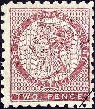 Postage stamps and postal history of Prince Edward Island - One of the first stamps of Prince Edward Island, issued in 1861.