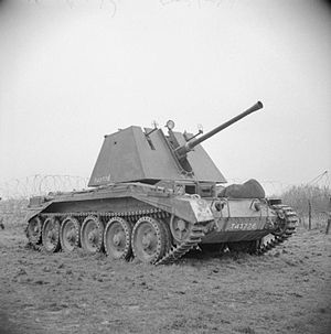 76th Anti-Aircraft Brigade (United Kingdom) - Crusader AA tank mounting 40 mm Bofors gun.
