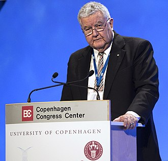 Ian Chubb - Chubb at the opening session of the 2009 Climate Congress, Copenhagen.