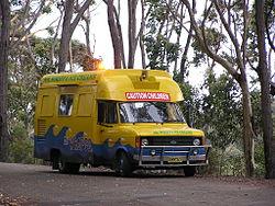 An ice cream van at Batemans Bay, New South Wales, Australia