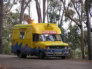 An ice cream van at Batemans Bay, New South Wa...