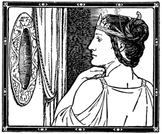 Magic Mirror (Snow White) - The Evil Queen in front of the Mirror Mirror in a 1916 illustration