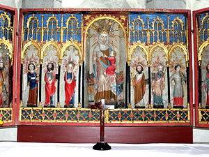 Lärbro Church - The unusual altarpiece